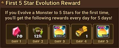 First 5* Evolution Reward