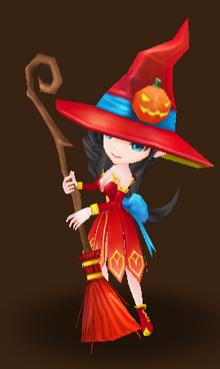 Mystische Hexe (Feuer)