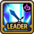 Leader Skill Attack Power (Mid) Dark Icon