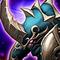 Armed Blue Horn Armor