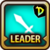 Leader Skill Attack Power (Low) Dungeon Icon