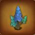 Blauer spitzer Baum