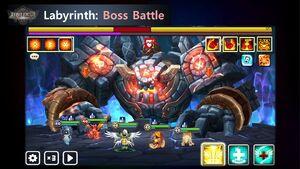 Tartarus' Labyrinth Boss Screen