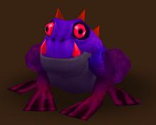 Gehörnter Frosch Dunkelheit