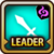 Leader Skill Attack Power (Low) Dark Icon