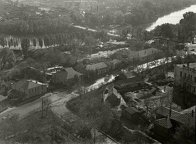 Вид на Харківський міст, Вільний лужок та Нижню соборну вулиці (1960-і?)