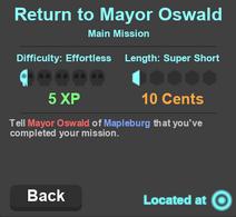 Return to Mayor Oswald