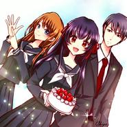 Mikoto, Hitoshi and Yuka
