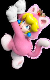 Cat Princess Peach Artwork (alt) - Super Mario 3D World