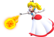 Fire Princess Peach Artwork - Super Mario 3D World