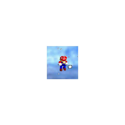 Mario during a snow storm.