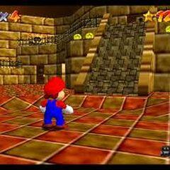 Mario inside the fane in the Desert section