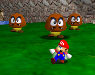 Tiny Huge Island 3 Goombas Mario