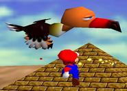 Klepto the Condor with Mario