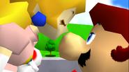 Peach kiss Mario N64 ending