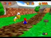 Super Mario 64 Koopa the quick gameplay