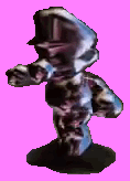 Metal Mario transparent with shadow SM64