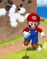 Giant Mario breaking a Big Steely DS.png