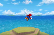 Mario Wing Cap flying DS