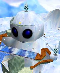 Giant Snowman SM64