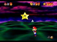 Rainbow Bowser defeated star