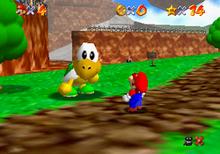 Koopa The Quick near Mario