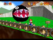 Super Mario 64 Chain Chomp freed gameplay