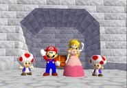 Peach 2 Toads Mario N64 ending 3