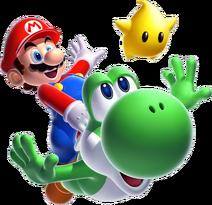 Super Mario Galaxy 2 Mario Yoshi Luma