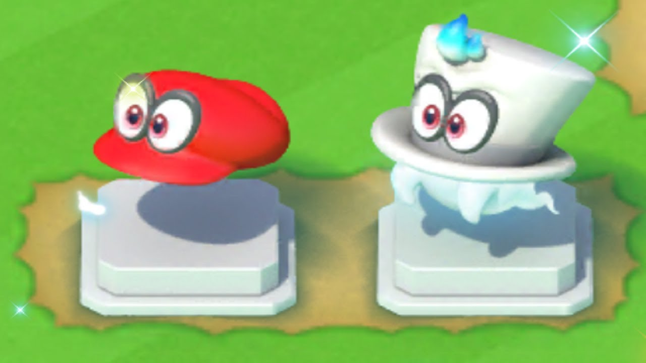 6cefd267280 The Cappy statues from Super Mario Run