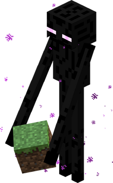 Enderman con bloque
