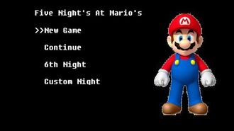 Five Night's at Mario's Night 1 (Part 1)