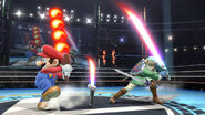 Beam Sword and Fire Bar SSB4