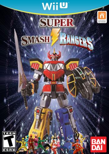 Super Smash Rangers Cover