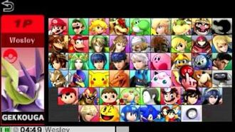 Super Smash Bros 4 All Characters And Alternate Costumes Colors (3DS WII U)