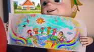 PaintPals Willem showing Jett his picture