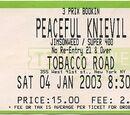 2003-01-04 - New York, NY - Tobacco Road