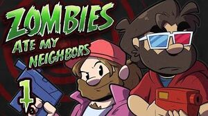 Zombies Ate My Neighbors Let's Play 1 - Night of of the Living Dead