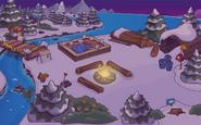 Campamento 2 atardecer construccion