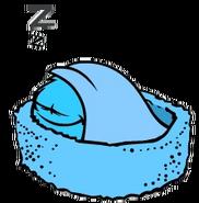 Puffle Celeste - Durmiendo