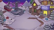Centro de esqui atardecer