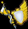 Cetro y Escudos dorados