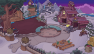 Cabaña de la mina tarde