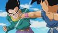 Son Goten blocks Goku GT