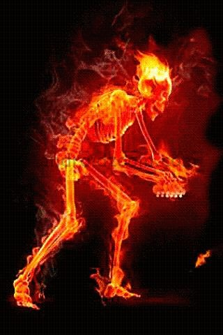 Skeleton Fire Live Wallpaper 2 1