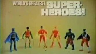 1980 Mego World's Greatest Superheroes Commercial