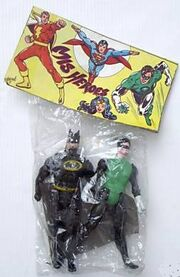 Batman and Green Lantern (Super Powers figures)