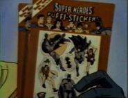 1982 prizes - Super Heroes Puffi-Stickers