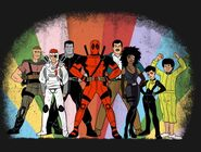 Super Friends Deadpool shirt