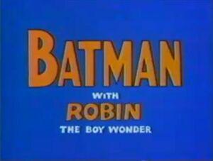 Filmation Batman Robin Title 1969
